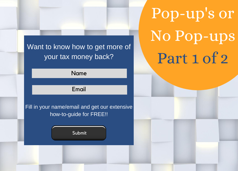Pop-Up or Not to Pop-Up – That's the Question (Part 1)
